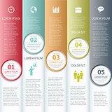 Modern business infographics options banner