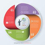 Modern business infographics circle