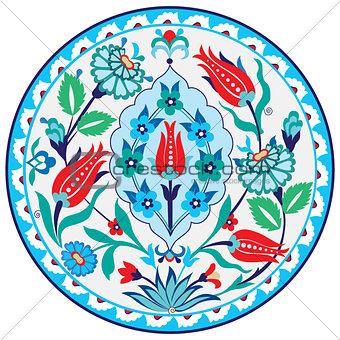 Antique ottoman Turkish ceramic design
