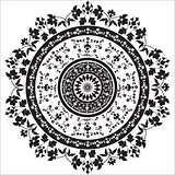 black and white oriental pattern and ornaments