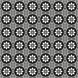 black and white oriental seamless pattern