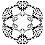 black and white ottoman serial patterns twenty-five