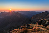 sunrise over the Fagaras Mountains, Southern Carpathians