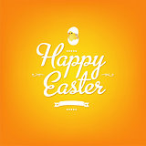 Happy Easter Orange Card