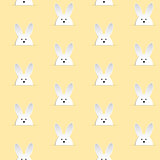 Happy Easter Rabbit Bunny Yellow Seamless Background