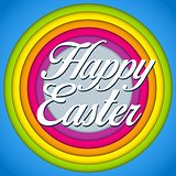 Happy Easter Rabbit Bunny on Rainbow Background
