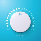 Vector volume music control / volume knob.