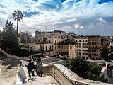 Rome panorama from top of the Spanish Steps