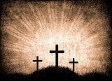 grunge background with crosses