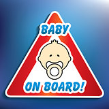 Baby on board sticker