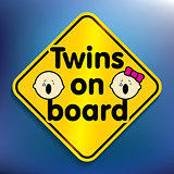 Twins on board sticker