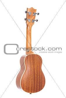 Back view of ukulele guitar