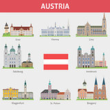 Austria. Symbols of cities