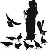 girl pigeons