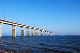 Swedish Olandbridge at the Baltic Sea