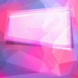 Abstract geometric background with polygons and frame