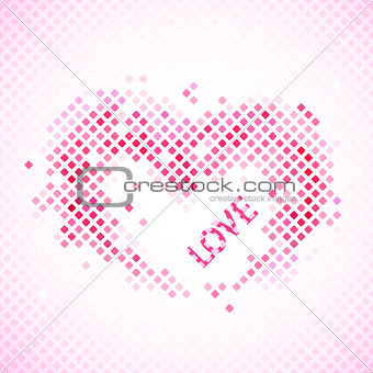 Abstract romantic background with heart and love.