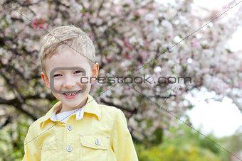 boy at spring time