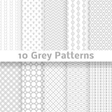 Grey vector seamless patterns (tiling).