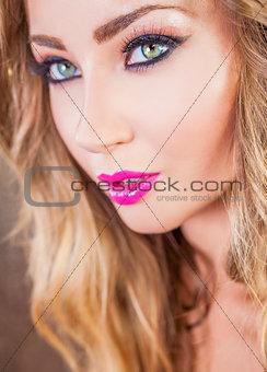 Beautiful Woman Close Up