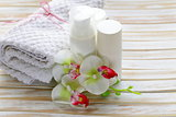 assortment of jars creams lotion - organic cosmetics