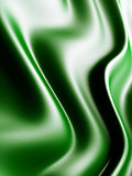 Abstract background from waves from green gentle silk
