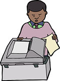 Man Making Copies