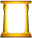Egypt column gold frame