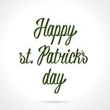 Happy st. Patricks day hand lettering