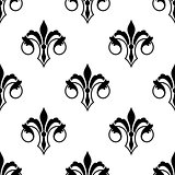 Ornate fluer de lys seamless pattern