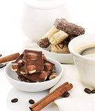 Coffee With Chocolate And Cookies