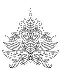 Intricate delicate floral design motif