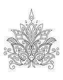 Ornate dainty vintage floral motif