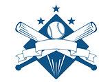 Championship or league baseball emblem