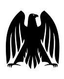 Impressive Imperial eagle heraldic silhouette