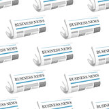 Pattern of folded Business News newspapers