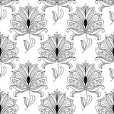Beautiful ornate dainty floral seamless pattern