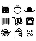 Shiopping icons set