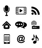 Communications and multimedia icons