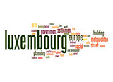 Luxembourg word cloud