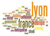 Lyon word cloud