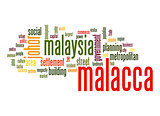 Malacca word cloud