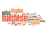 Manchester word cloud