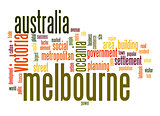 Melbourne word cloud