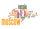 Moscow word cloud