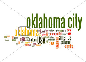 Oklahoma City word cloud