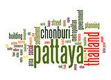 Pattaya word cloud