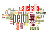 Perth word cloud