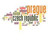 Prague word cloud