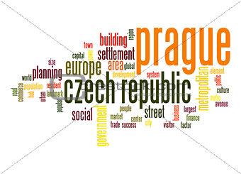Prague word cloud